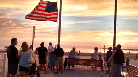 Flag Lowering Ceremony Cape May NJ