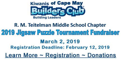 Jigsaw Puzzle Tournament Kiwanis of Cape May Builders Club