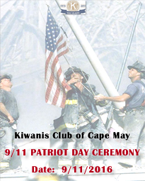 Patriot Day Ceremoney - Kiwanis Club of Cape May
