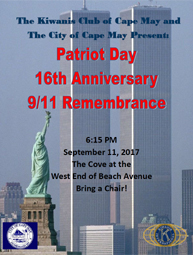 9/11 Patriot Day Ceremony - Kiwanis Club of Cape May