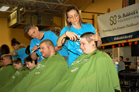 Brave a Shave for Kids with Cancer - In the chair